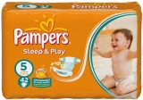 Pampers Sleep&play 5 junior 11-18 kg 42 ks