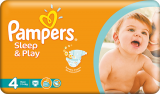 Pampers Sleep&play 4 maxi 7-14 kg 50 ks