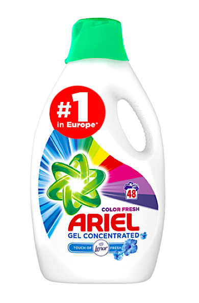 Ariel gel 48 pracích dávek Color 2,64 l Touch of Lenor