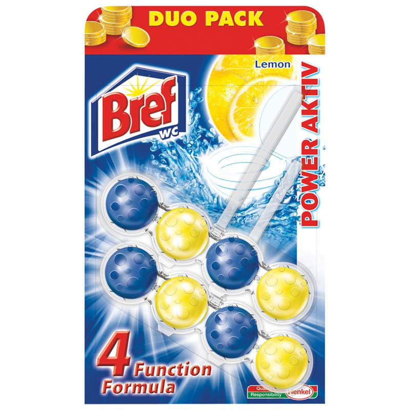 Bref WC Power Aktiv 2 ks (2x50g) Lemon