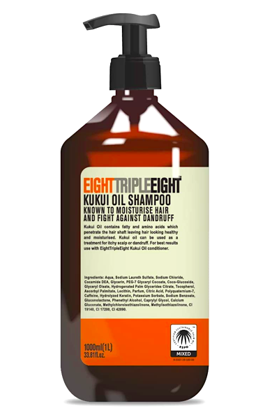 Eight Triple Eight šampon 1l Kukui oil