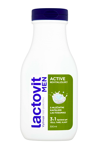 Lactovit Men sprchový gel 300 ml Active 3v1