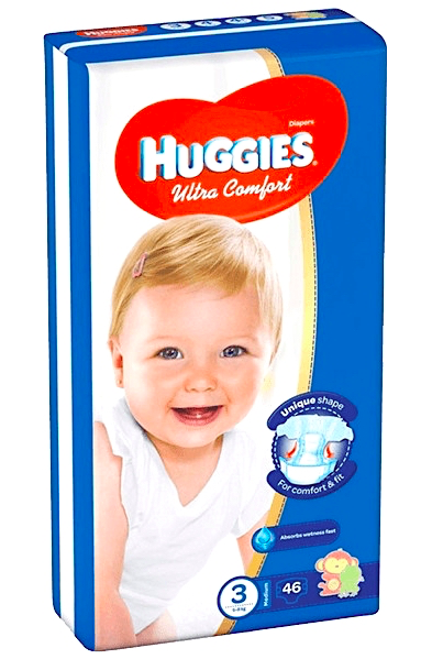 HUGGIES Ultra Comfort 3 (5-8 kg) - 46 ks