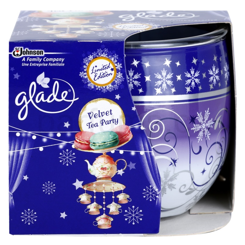 Glade svíčka 120 g Velvet Tea Party