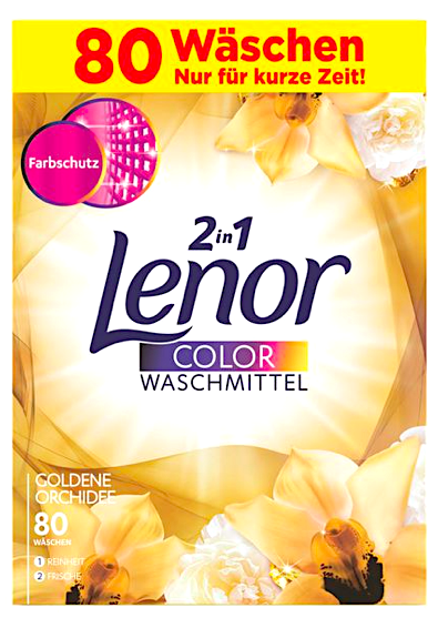 Lenor 80 pracích dávek 2v1 Color Goldene Orchidee