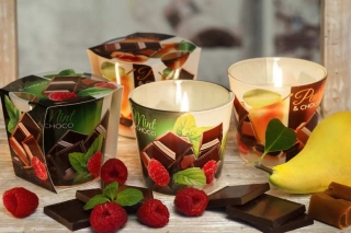 Bartek Candles svíčka 115 g Choco & Mint / Choco & Pear