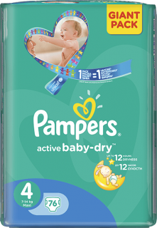 Pampers Active baby 4 maxi 8-14 kg 76 ks