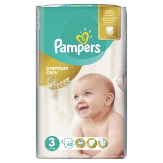 Pampers Premium care 3 midi 4-9 kg 60 ks
