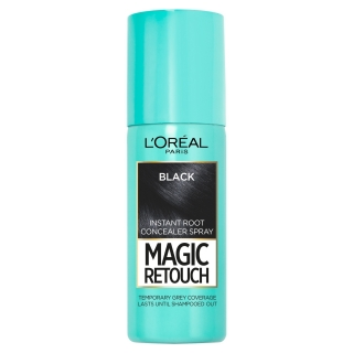 L´Oréal Magic Retouch vlasový korektor šedin a odrostů Black 75 ml