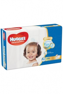 HUGGIES Ultra Comfort 4+ (10-16 kg) - 46 ks