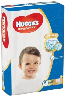 HUGGIES Ultra Comfort 5 (12-22 kg) - 42 ks