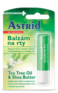 Astrid Tea Tree Oil & Shea Butter balzám na rty 4,8 g
