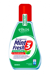 Elkos Dental ústní voda 125 ml koncentrát Mint Fresh 3 Active