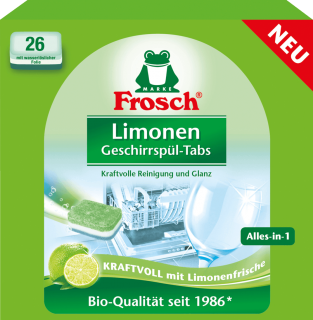 Frosch Bio Limonen Alles in 1 tablety do myčky 26 ks