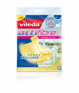 Vileda Actifibre Window all-in-1 mikrohadřík na okna 1 ks