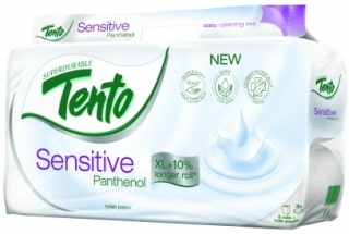 Tento 8 rolí Sensitive Panthenol (3 vrstvý)