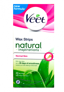 Veet Wax Strips voskové pásky  20 ks Natural Inspiration