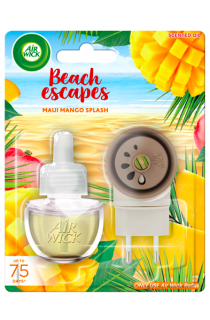 Air Wick elektrický strojek s náplní Beach Escapes Maui Mango Splash 19 ml