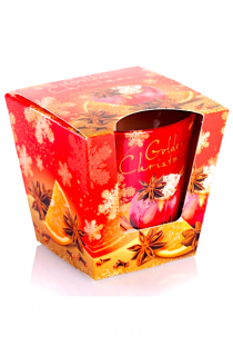 Bartek Candles vánoční svíčka 115 g Golden Christmas - Baked Apple,Orange,Spice