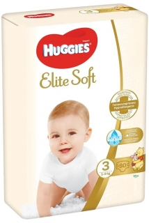 HUGGIES plenky Elite Soft vel.3 (5-9 kg) 80 ks