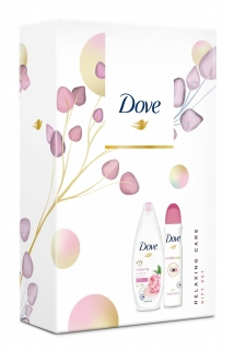 Dove dárková kazeta Relaxing Care (sprchový gel 250 ml + anti-perspirant 150 ml)